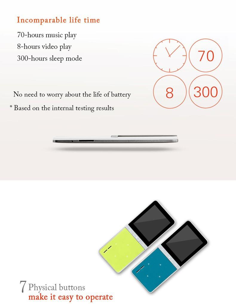 Купить 2016 Новый ONN W7 Спорт Спикер MP3 Плеера с Быстрым Диктофон 8 ГБ 1.8 Дюймов Экран 50 h высокое качество lossless Сабвуфер