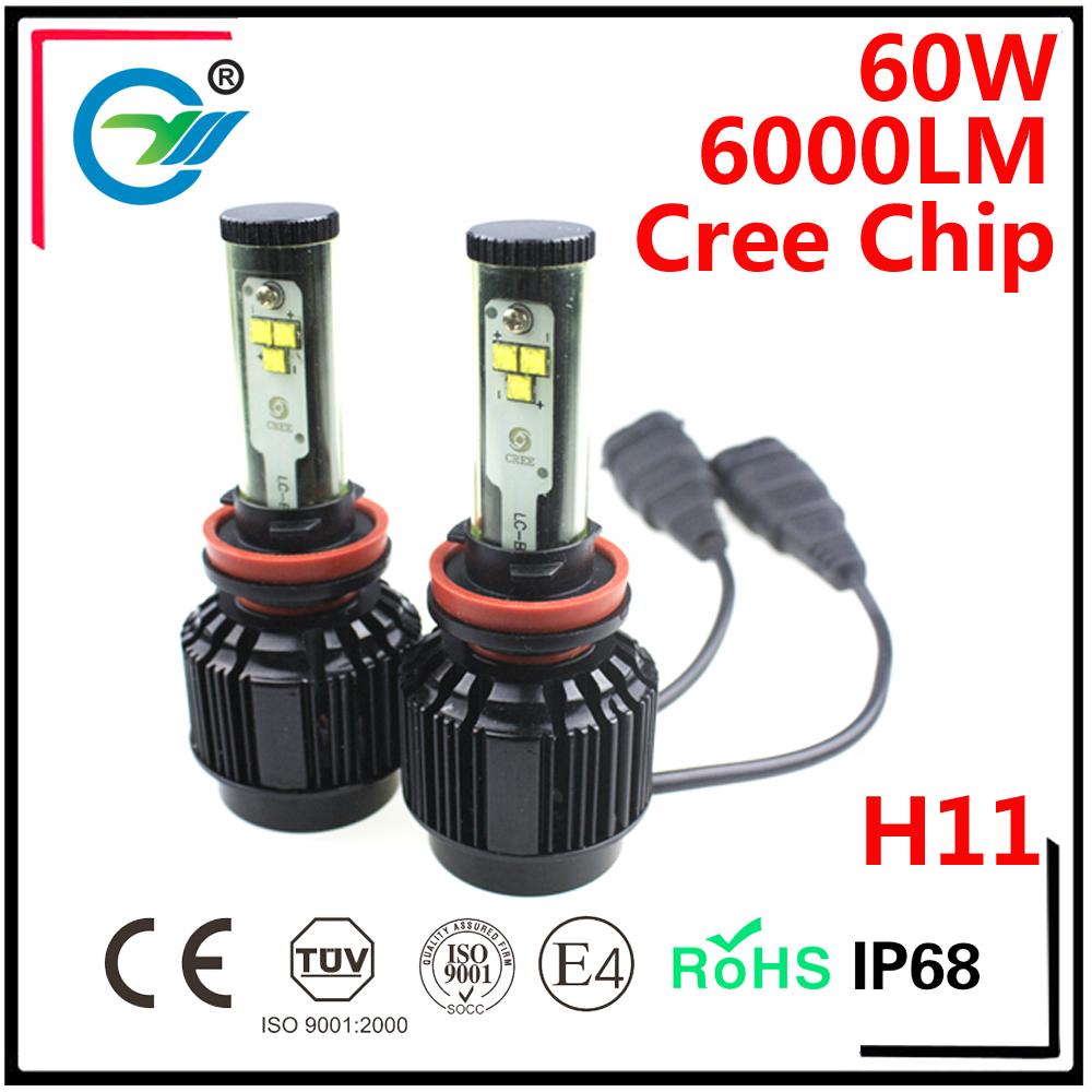6LED 60W CREE Chip 9005 H8 H9 H7 HB4 H11 9006 Car Led Conversion Kit HEADLIGHT BULB(China (Mainland))