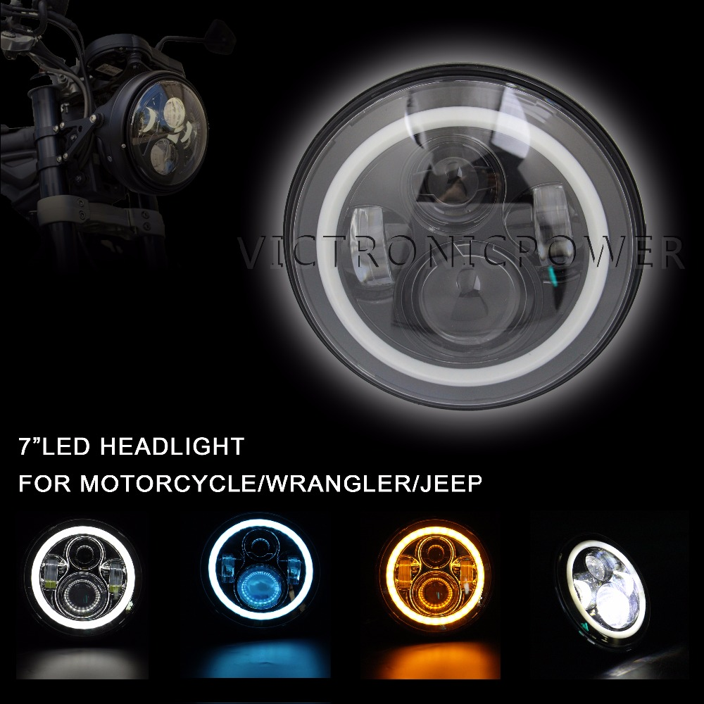 PAIR 7INCH 40W HEADLIGHT FOR JEEP WITH HI/LO BEAM ,REPLACEMENT KIT WITH CREE LED HEADLIGHT(China (Mainland))