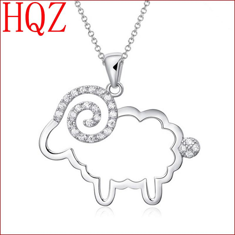 2016 high quality fashion jewelry sterling silver pendant goat lady lovely crystal jewelry cheap wholesale manufacturers(China (Mainland))
