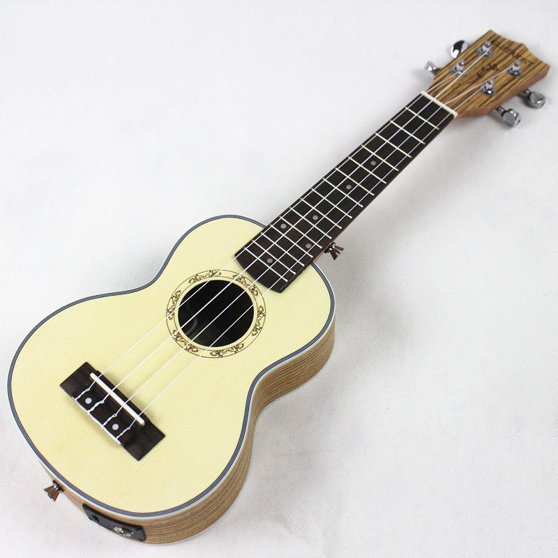 21 inch small guitar pickup spruce zebra wood electric box harp ukulele guitar ukulele Hawaii<br><br>Aliexpress