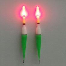 Nova 1 PCS Noite Bobber Bóia de Pesca Peixe De Plástico Vermelho Piscando Com Luz LED VCJ42 P(China (Mainland))
