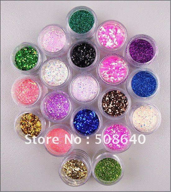 Fashion Desgin Nail Polish Decoration 20colors Sequin Glitter Powder Series For Nail Art Care Manicure Wholesale 108