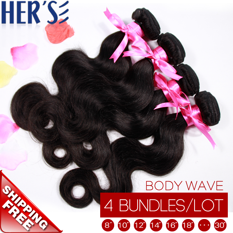 4PCS Brazilian Virgin Hair Body Wave Weave Bundles,Cheap Remy Human Hair Weave,Wet and Wavy Virgin Brazilian Hair,7A Unprocessed