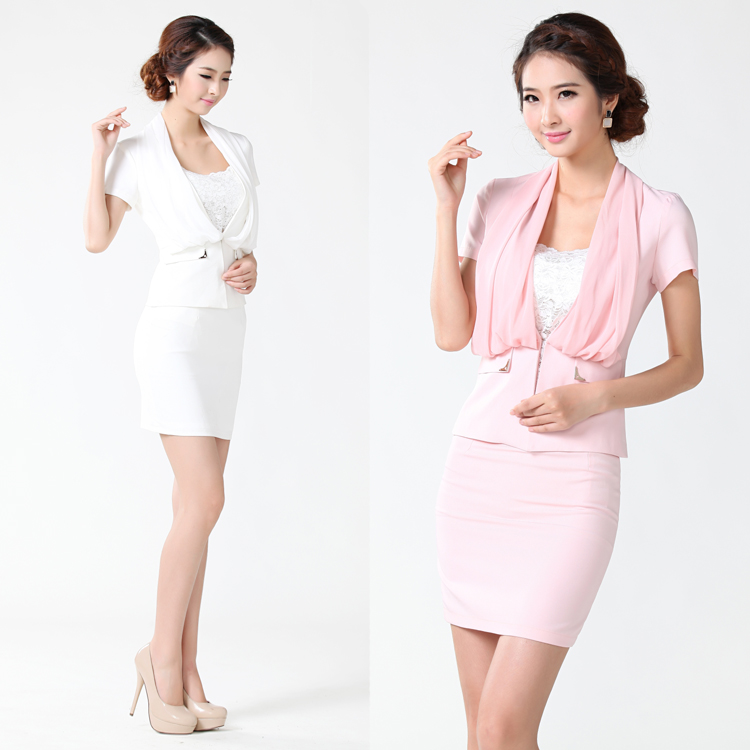 Free Shipping 2013 Summer High Quality Sexy Womens Business Suits Aesthetic Gentlewomen Short-sleeve OL Formal Suits 3 COLORS