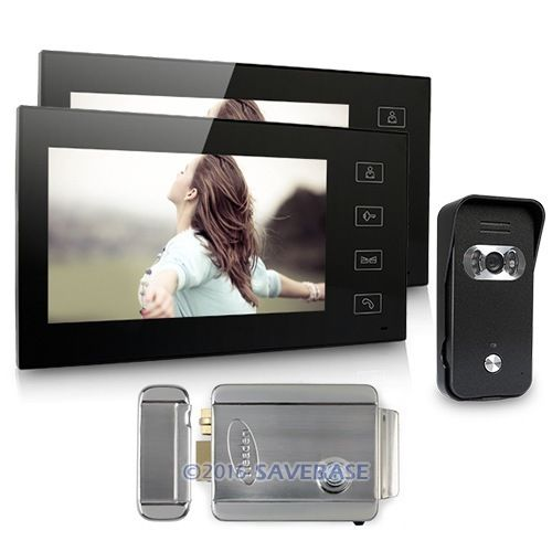 """7"""" Video Door Phone Intercom System 1V2 With Electronic Lock For Home Security(China (Mainland))"""