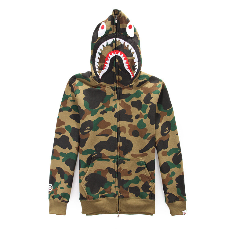Bape Shark Camouflage Hoodie Aape Camo Clothing Men Sweatshirt Fashion Couple Outfit Boys Streetwear Thrasher Clothes Hiphop HBA - Top Trends Co store