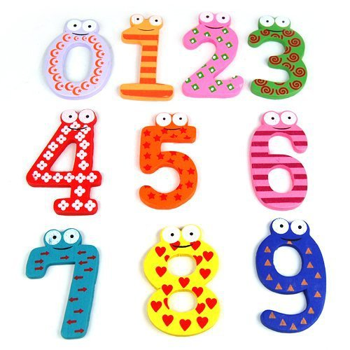 Cute Baby Funky Fun Colorful Magnetic Numbers Wooden