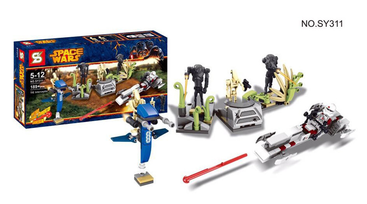 SY311 building blocks 189pcs Star Wars Battle on Saleucami Clone & Battle Droids include BARC CLONE TROOPER Minifigure toys(China (Mainland))
