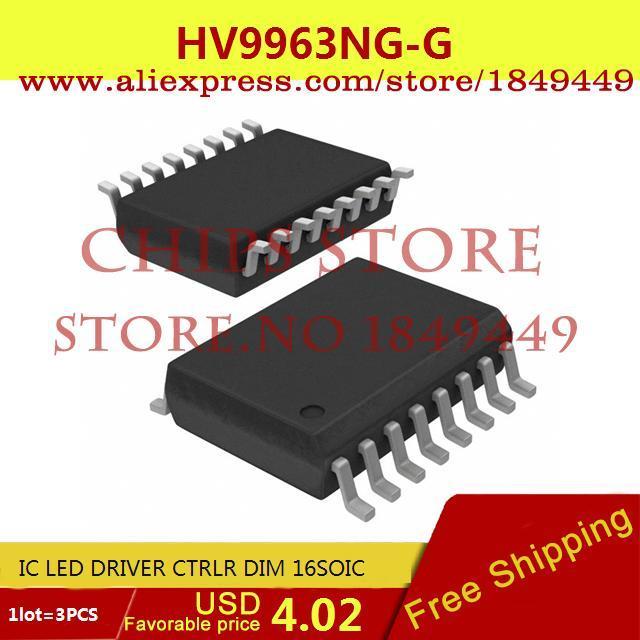 Free Shipping IC Integrated Circuit HV9963NG-G IC LED DRIVER CTRLR DIM 16SOIC 9963 HV9963 3pcs(China (Mainland))