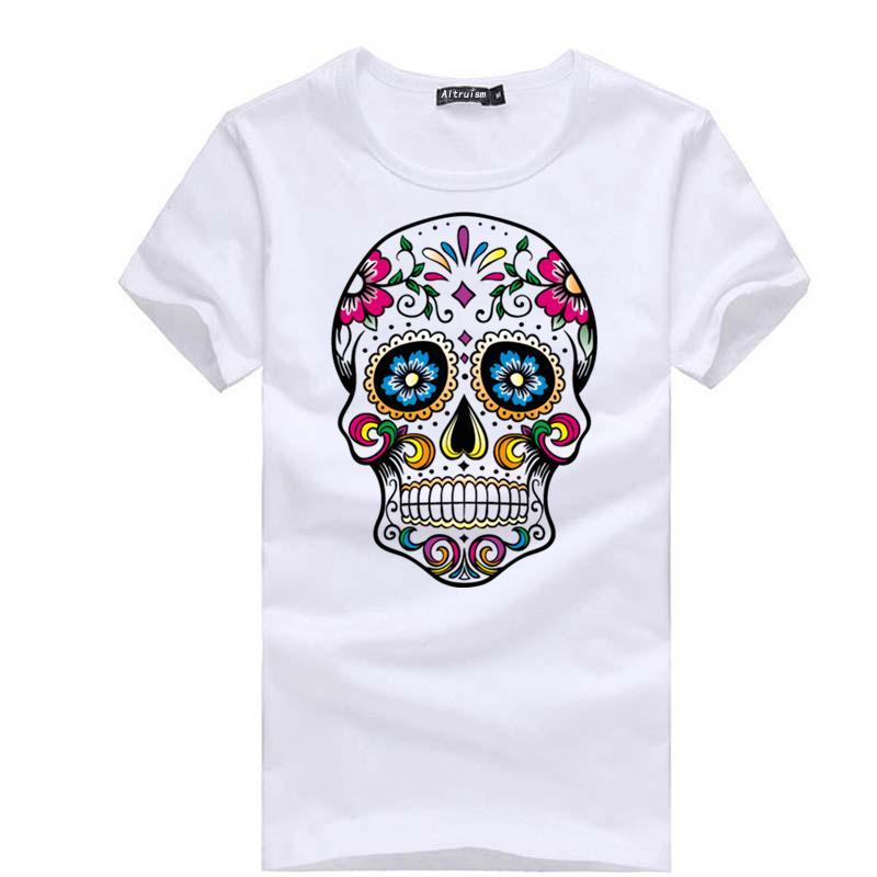 Women T shirt 2015 Summer new women t shirt skull cartoon sport suit short-sleeved cotton t-shirt for women(China (Mainland))