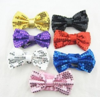 Free shipping 7 designs sequins Hip-hop dance  tie, magic show bow  tie bowknot baby kid tie toddler ties - N002Одежда и ак�е��уары<br><br><br>Aliexpress