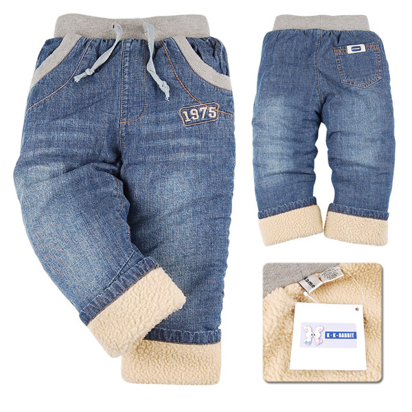 Гаджет  Plus velvet warm winter childrens jeans boys baby jean kid designer pants High quality retail Free shipping! None Детские товары