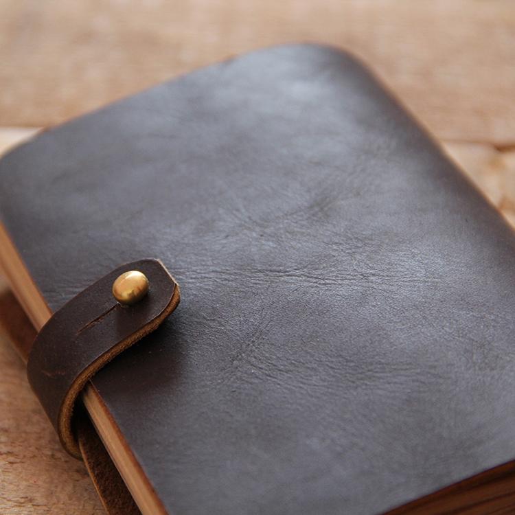 Retro handmade leather notebook universal notebook thick leather loose-leaf notebook diary book