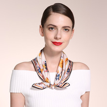 100% Silk 55*55cm Small Size Lady Neckscarf, Fashion collective scarves women, Hand Printing pure silk scarfs original design(China (Mainland))