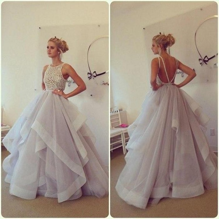 Custom made Glamorous Ball gown Lace Puffy Organza Floor length long sexy prom dresses 2015 507183 - LOVE FASHION CUSTOM WEDDING store