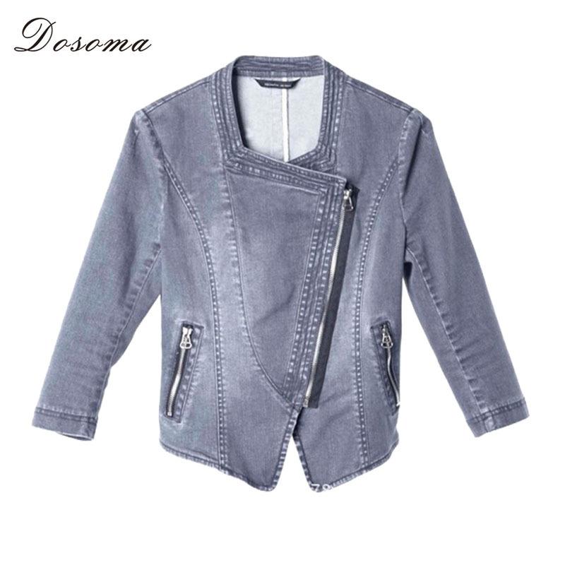 Denim jacket for Women 2015 Fashion slim with three quarter sleeve outwear denim coat casaco feminino(China (Mainland))
