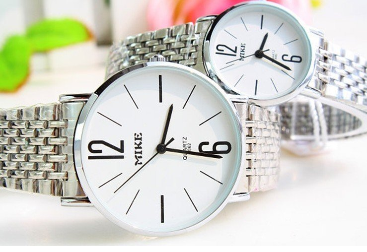 Multicolor choose and buy for lovers table meters can steel strip to the table couples watch wholesale Free Shipping 5 sets of(China (Mainland))