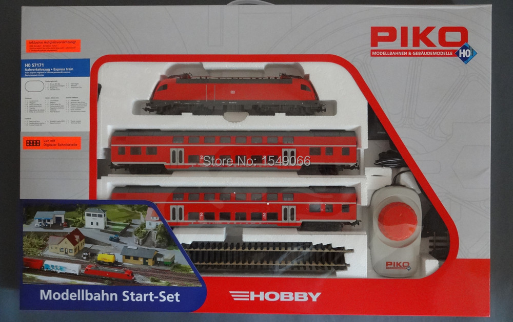 Germany PIKO 57171 182 passenger electric locomotive + double suite ( including track controller)(China (Mainland))