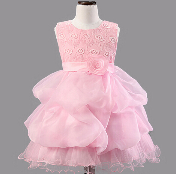 DQ0233 spring 2016 new arrival high purity cotton dress girl princess dress children party dress well for girls evening dress(China (Mainland))