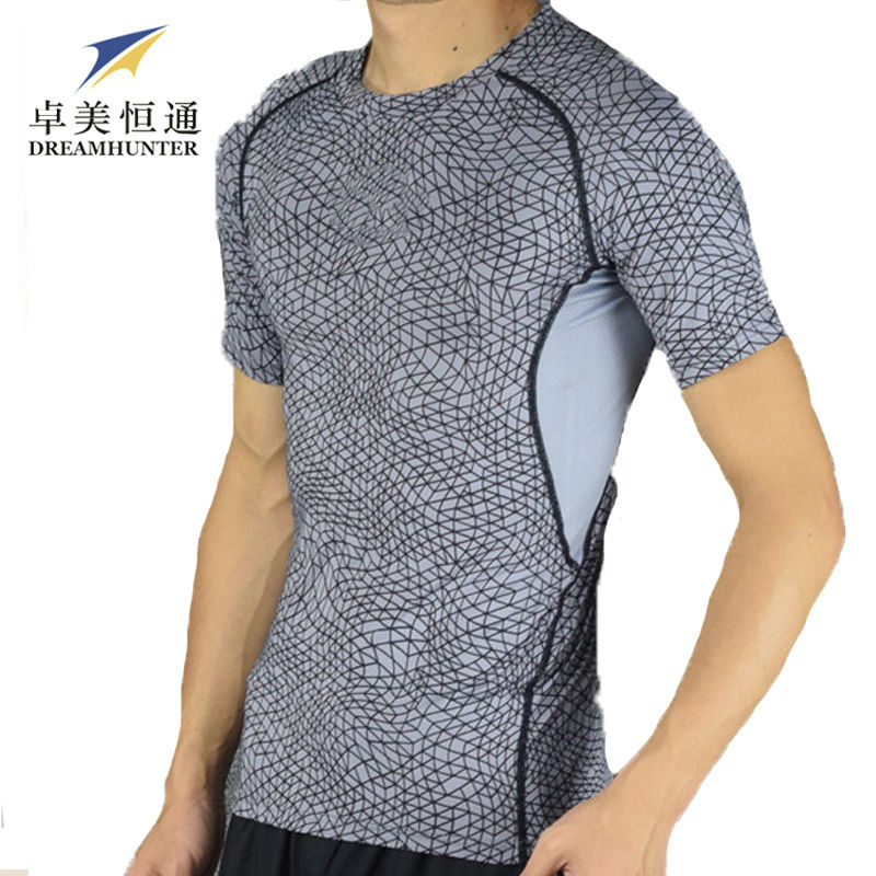 Gym Sports Mens Flexible T-Shirts Running Basketball Snake Style Fitness Compression Clothing Tops Men Shirts Logo - 8 store