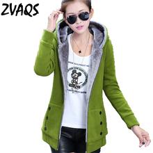 Buy 2017 Women Autumn Winter Warm Fleece Cotton Zip Hoodies Coat Sweatshirt Jacket Hoody Outerwear 5 Color BL0496 for $19.41 in AliExpress store