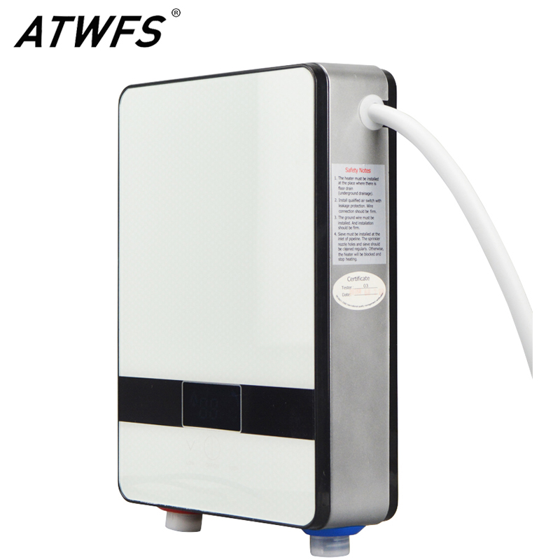 ATWFS Instantaneous Water Heater 6500w Induction Heater Thermostat Instant Hot Shower Water Electric Tankless Shower Heaters(China (Mainland))