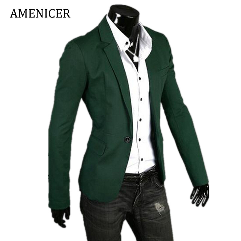 Mens Casual Blazer Single Breasted For Fashion New Cotton Style Man Blazers Suit Jacket Slim Fit Jaqueta Terno Masculina Costume(China (Mainland))