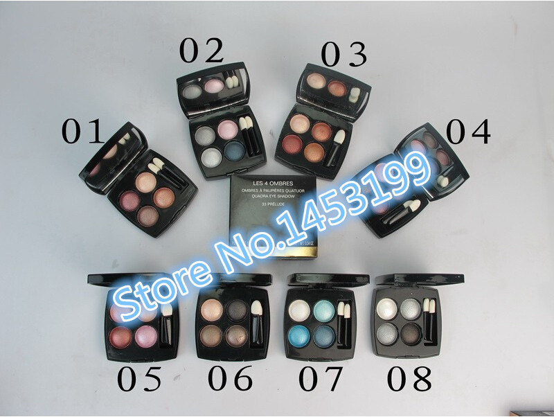 1pcs Best selling Fashion makeup 8 type 4color eye shadow palette NET(China (Mainland))