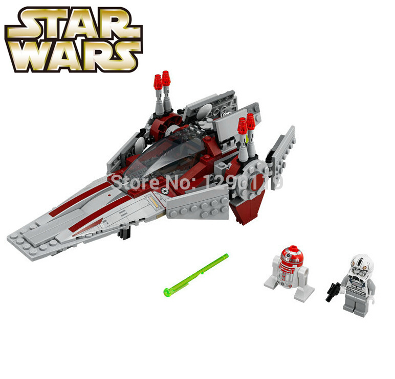 211pcs STAR WARS V-Wing Starfighter RED ASTROMECH DROID Space Ship Clone War Minifigures Building Blocks Compatible with LEGO(China (Mainland))
