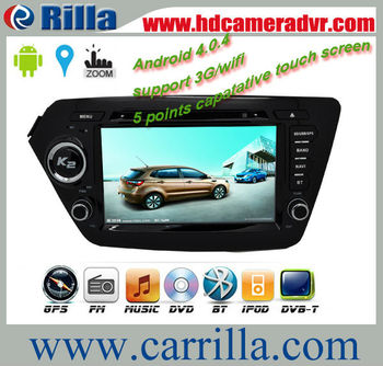 Newest for KIA K2  8inch Capacitive   Android Car DVD Player with GPS  Bluetooth Ipod  video player