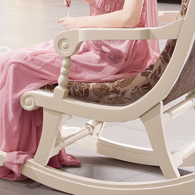 European American Wood Rocking Chair Recliner Happy Sofa Balcony