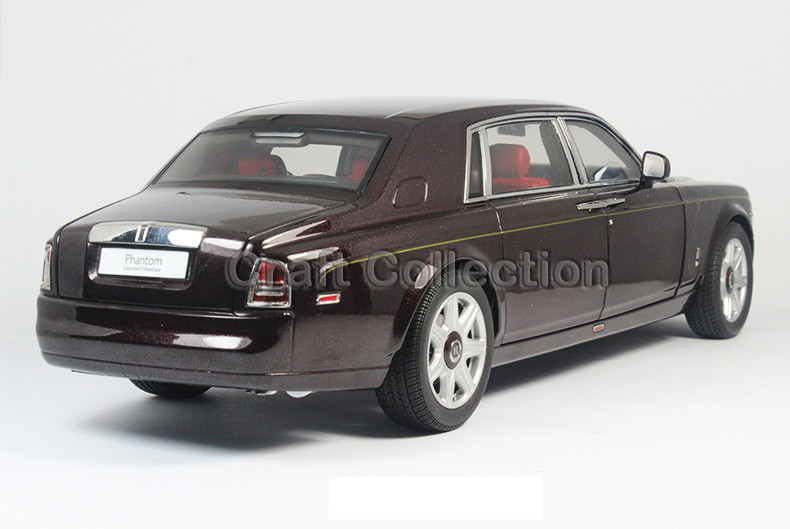 Kyosho 1/18 Brown Rolls-Royce Phantom EWB Prolonged Wheelbase Die-Forged Mannequin Automotive Director Lower Car Luxurious Assortment