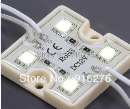 20pcs/Lot 12V DC 5050 SMD 4 LED Module Pure White/Warm White Waterproof  Light Boat Lamp 1W<br><br>Aliexpress