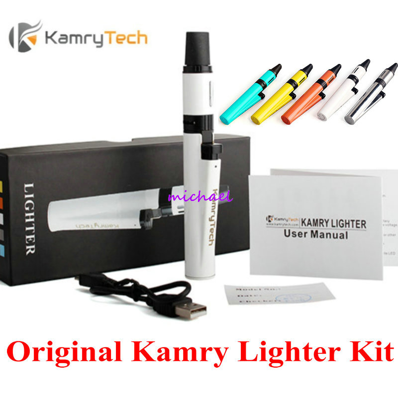 100% Original Kamry Lighter 1300mah Battery E Cigarette Starter Kit  510 thread Electronic Cigarettes от Aliexpress INT