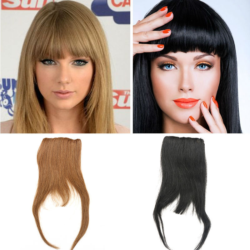 Clip In Human Hair Bangs 25g All Colors Human Hair Clip Bangs 100% Remy Clip In Fringe Human Hair Extensions Fringe Human Hair