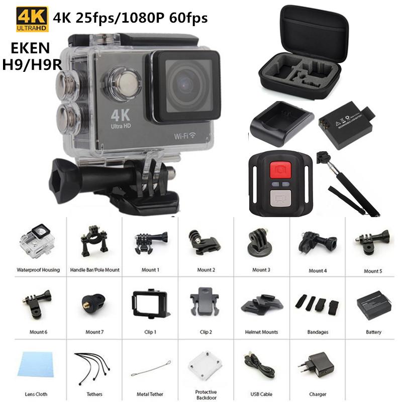 Original EKEN H9 / H9R remote Action camera Ultra HD 4K WiFi 1080P Sport 2.0 LCD 170D lens gopro style go waterproof pro camera(China (Mainland))