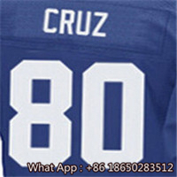 100% Stitched With Customized #10 Eli #13 Odell #54 Olivier #56 Lawrence #80 Victor #92 Michael Men's Blue Red White Jersey(China (Mainland))