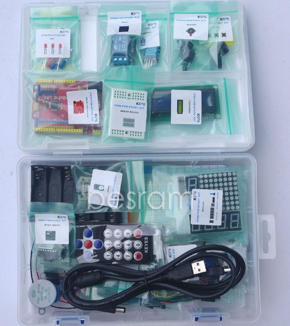 Start Learning Kit for Arduino Open Source Funduino Uno 2014<br><br>Aliexpress
