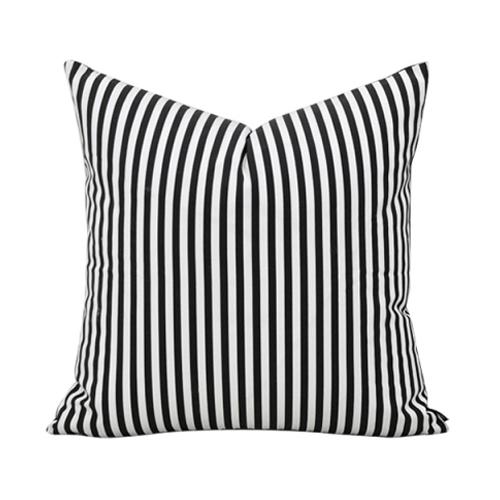 Tissu de coton noir et blanc coussins home decor rayures 45 50 60 oreillers angleterre ikea - Coussin ethnique noir et blanc ...
