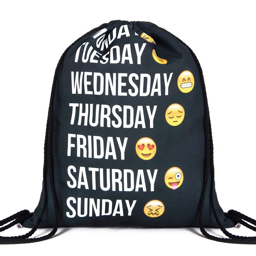 2015 new fashion backpack 3D printing travel softback man women harajuku drawstring bag mens backpacks
