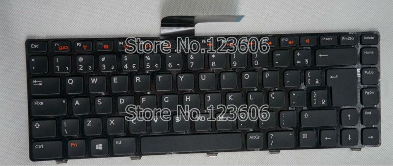 NEW Keyboard For Dell VOSTRO 2420 2520 3350 3450 3460 BR Brazilian Portuguese Brasilian Brazil Brasil frame backlit(China (Mainland))