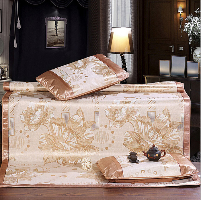 New Fashion Luxury Plant Fiber Bedding Sets Summer Air Condition Sleeping Mat Set Bedding Sheet