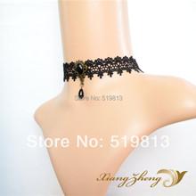 1162 Gothic Punk necklace false collar accessoriesJewelry Black Lace Vampire sexy Costume Jewelry Necklace