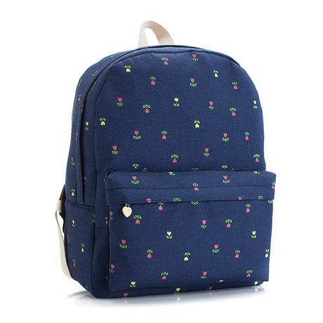 2016 Summer Sweet Backpacks Garden Series blue Little flower backpacks Daily Casual bags Women Mochilas girl bags(China (Mainland))
