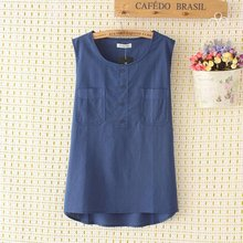 2016 Summer Women's Vest Candy Colors Sleeveless Tank Top Cotton Loose Long Top Lady's Casual Tops Plus Size XL-4XL 0403(China (Mainland))