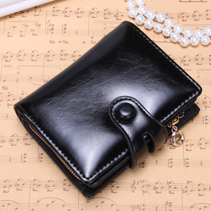 Genuine Leather Wallet For Women Cute Mini Coin Purse Genuine Leather Women Short Wallet Monederos Mujer 2015 Card Case Gift(China (Mainland))