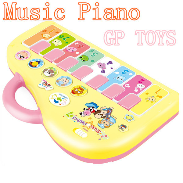 Children's electronic keyboard Music Toy Instrument Learning Educational Baby Toy Kids Animal Farm Piano Girls(China (Mainland))