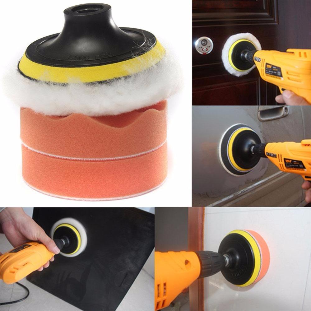 4'' Gross Buffer Buffing Pad Drill Adapter Auto Car Polishing Sponge Wheel Tool Kit(China (Mainland))
