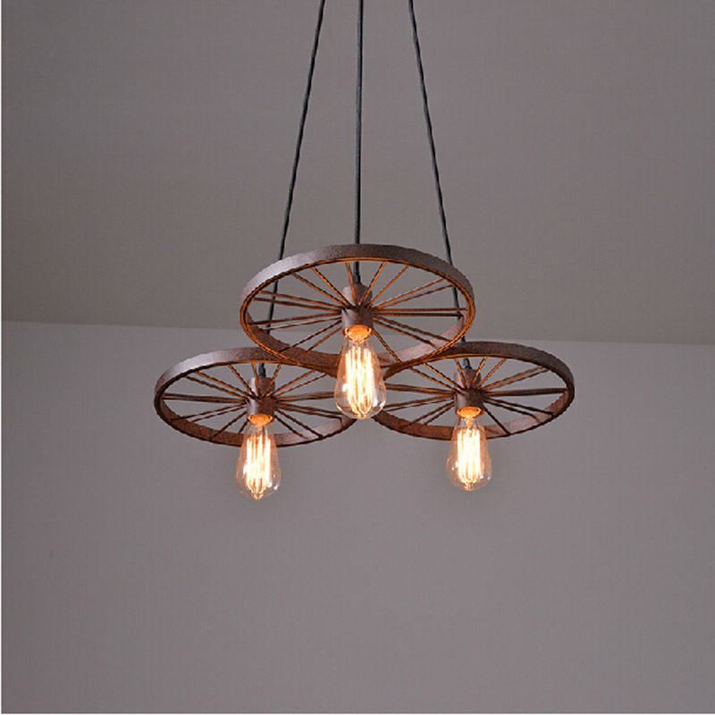Vintage Pendant light edison lamp hanging suspendu luminaire Nordic Retro rust pendente de teto industrial lighting fixtures(China (Mainland))
